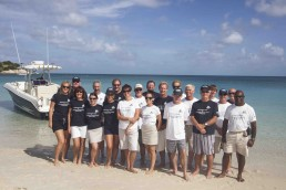 The expedition team and crew.