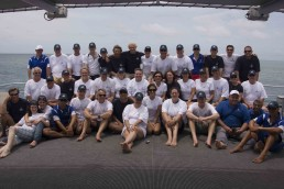 Survey team, research vessel crew and volunteers group photo.