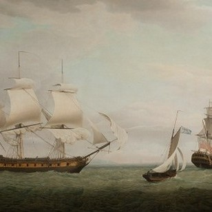 convict transport Pitt in two views