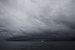 Some weather coming in over the research vessel during the Comet and Hydrabad expedition.