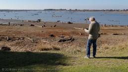 Maritime archaeologist, Paul Hundley, flies the drone over the areas of interest. Copyright: Irini Malliaros/Silentworld Foundation