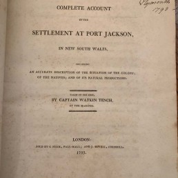complete account of the settlement at port jackson book