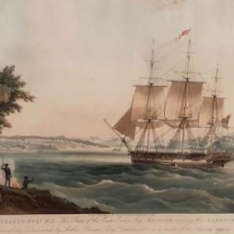 east indiaman Mellish entering Sydney harbour