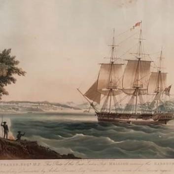east indiaman Mellish entering Sydney harbour