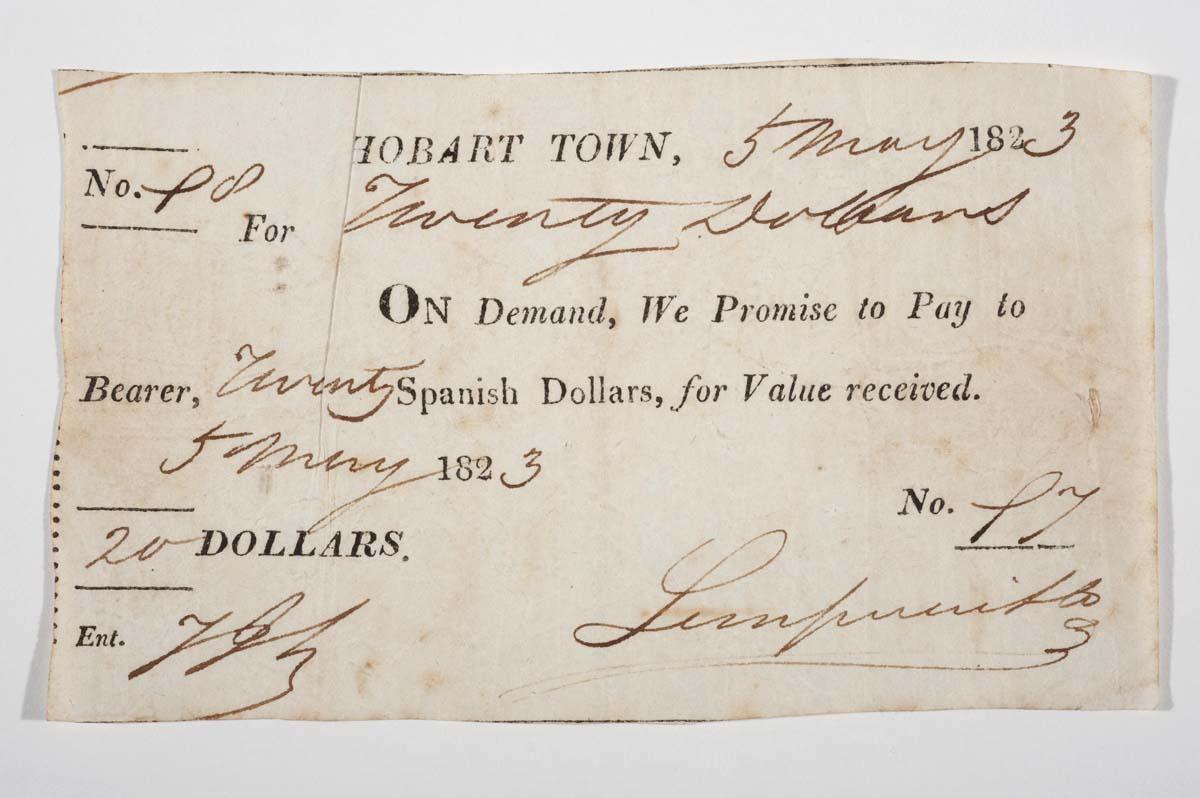 promissory note 20 spanish dollars