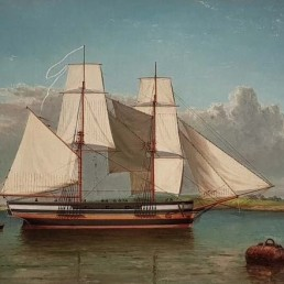 lady nelson in sydney cove or yarrow river