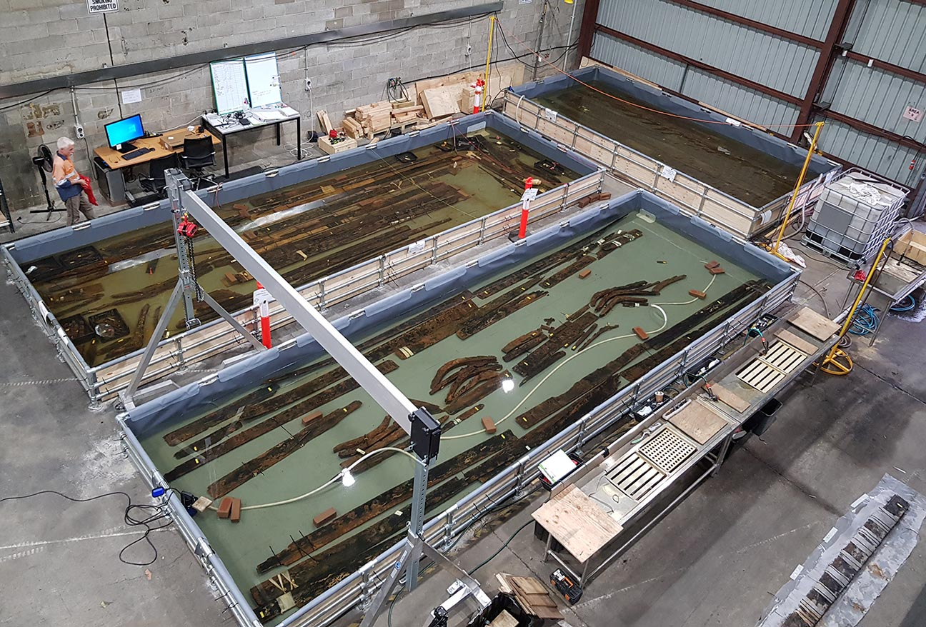 Timbers in Tanks. Image: Sydney Metro, used with permission.