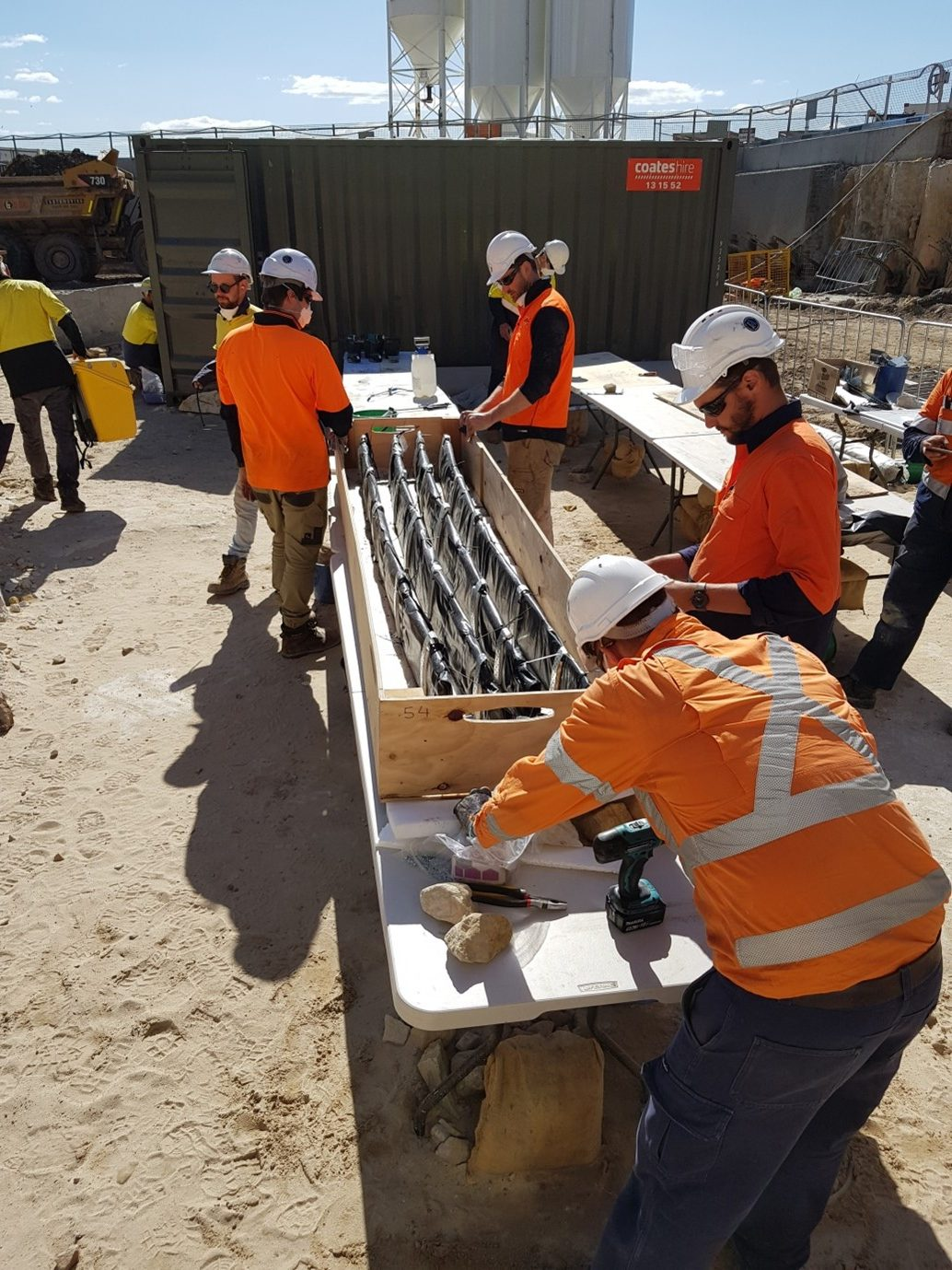 Packing the excavated timbers. Image: Renee Malliaros/Silentworld Foundation for Sydney Metro, 2018.