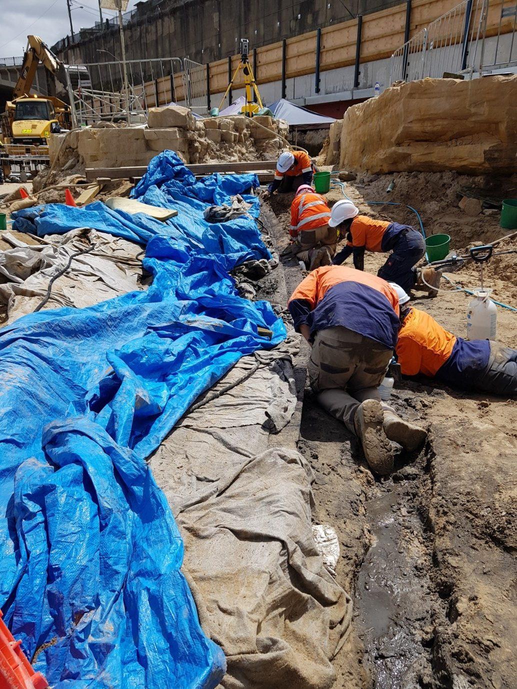 Barangaroo Boat excavation. Image: Renee Malliaros/Silentworld Foundation for Sydney Metro, 2018.