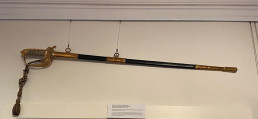 Figure 1: Cleaned sword in place. Image: Heather Berry/Silentworld Foundation.