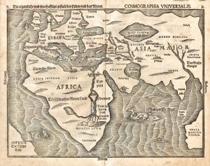 Die eigentliche und warhafftige gestalt der Erden und des Meers. Cosmographia universalis, SF001180