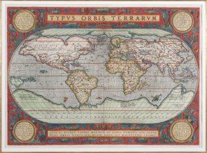 Typus Orbis Terrarum by Abraham Ortelius - Cartographer, 1589
