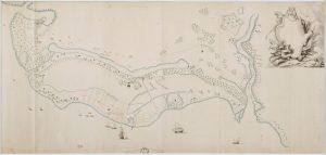 VOC Chart of the island of Makassar. 18th century